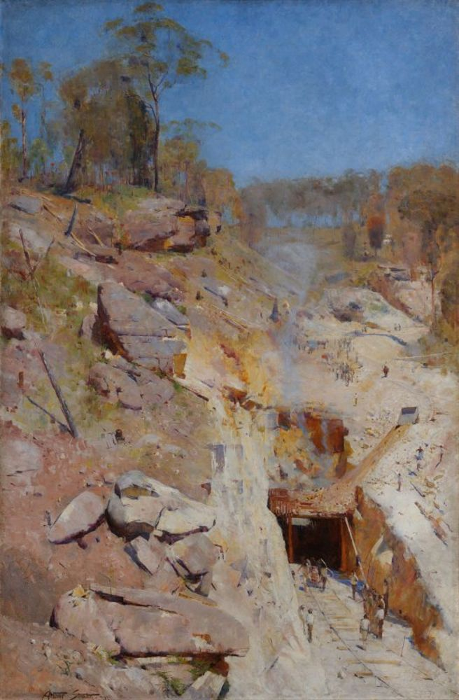 Arthur Streeton - Fire's on.jpg
